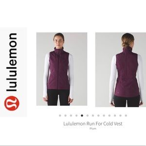 BNWT Lululemon Run For The Cold Vest. Plum Sz 10